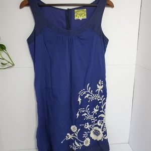 Anthropologie Floreat embroidered dress size 2